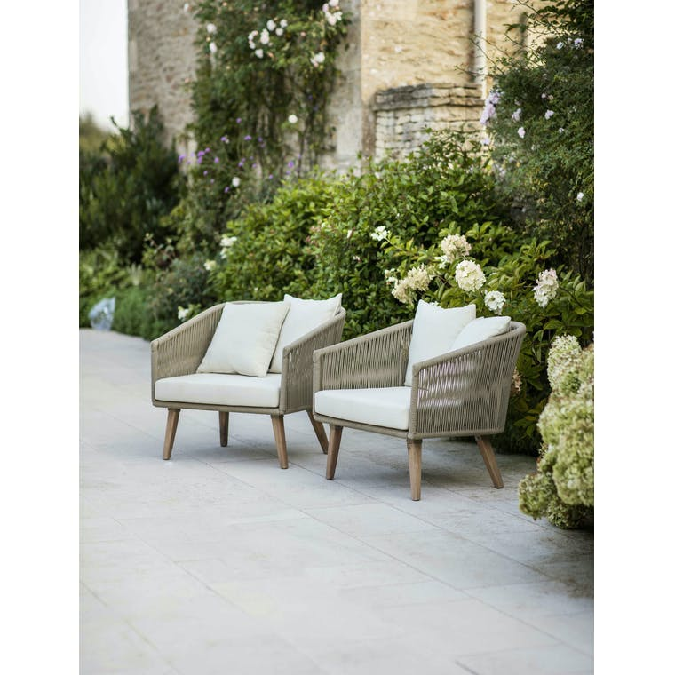 Garden Trading Pair of Colwell Armchairs - Polyrope