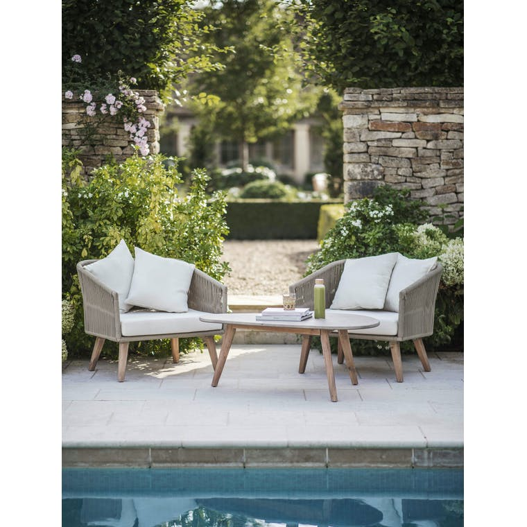 Polyrope Pair of Colwell Armchairs | Garden Trading