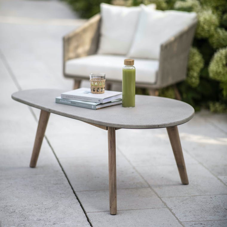 Polyconcrete Colwell Outdoor Coffee Table | Garden Trading