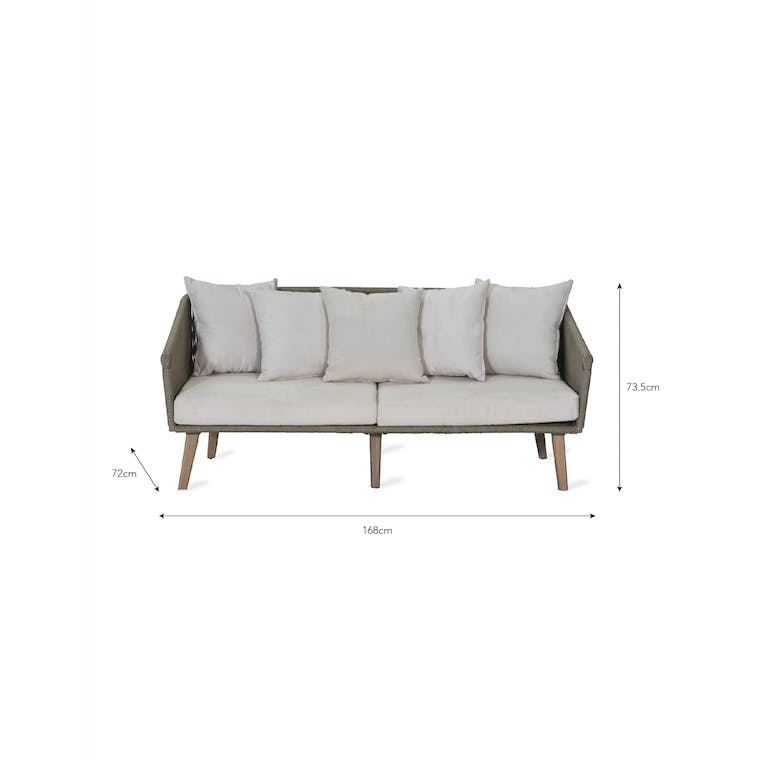 Polyrope Colwell Outdoor 2 Seater Sofa | Garden Trading