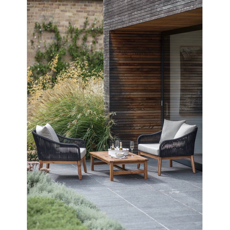 Garden Trading Luccombe Armchair Set - Polyrope