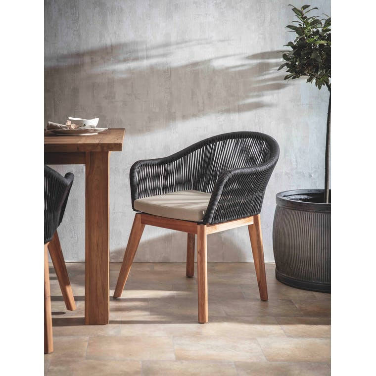 Garden Trading Set of 2 Luccombe Dining Chairs - Polyrope