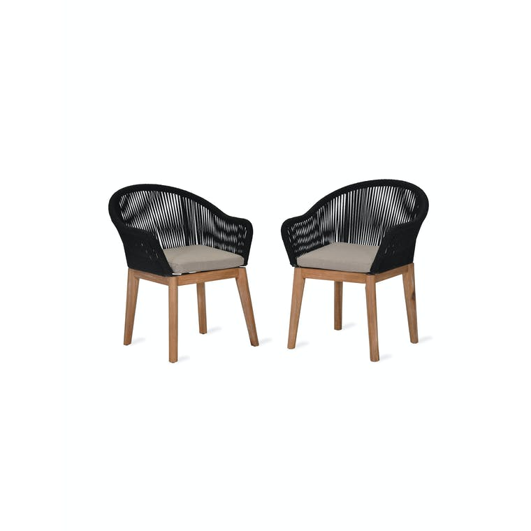 Polyrope Pair of Luccombe Dining Chairs | Garden Trading