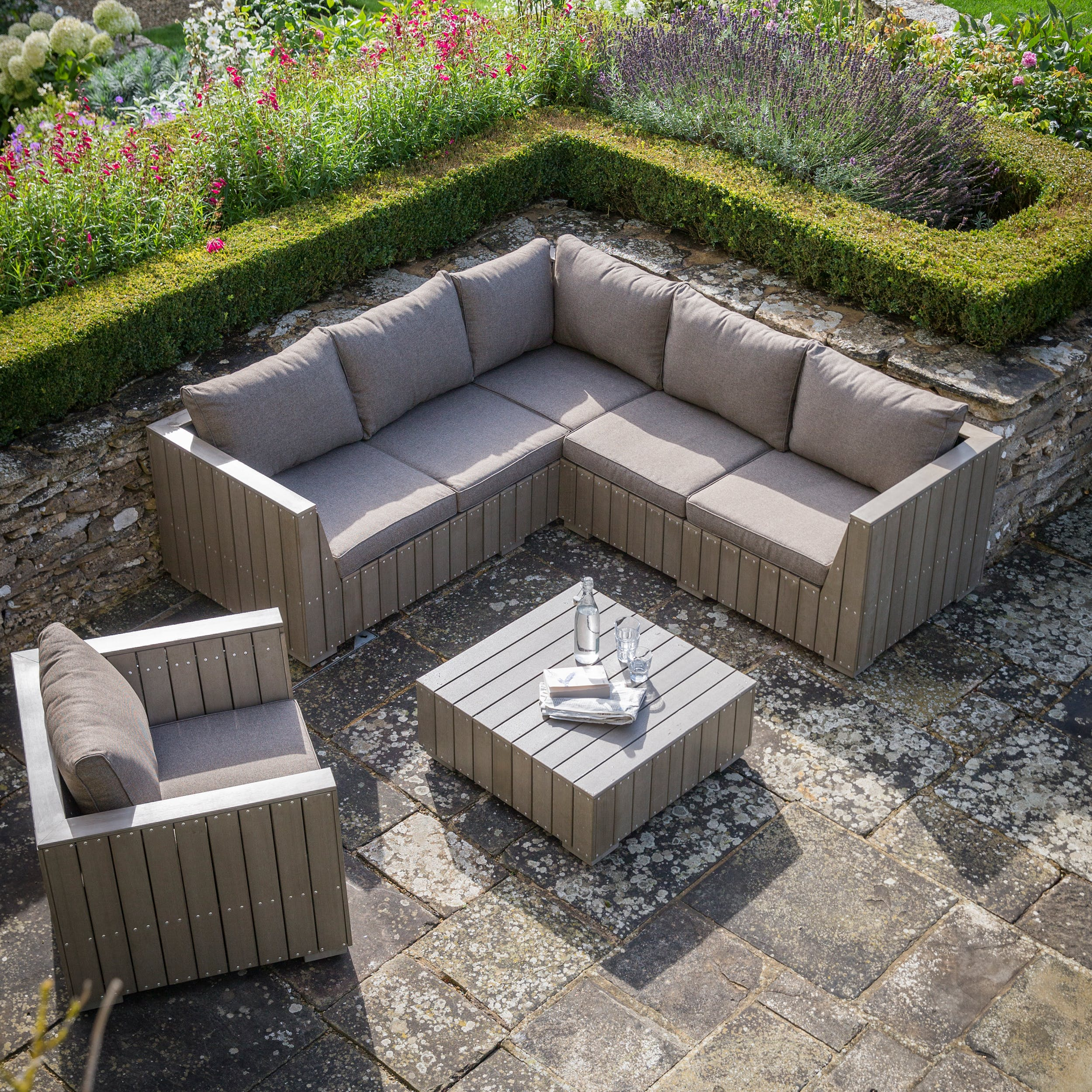 Better Homes And Gardens Replacement Cushions Azalea Ridge, Bosham Outdoor Corner Sofa Set Garden Trading