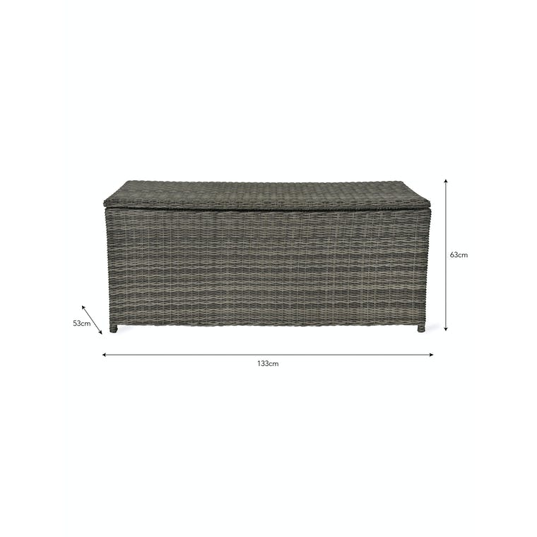 PE Rattan Selborne Storage Box in Small or Large | Garden Trading