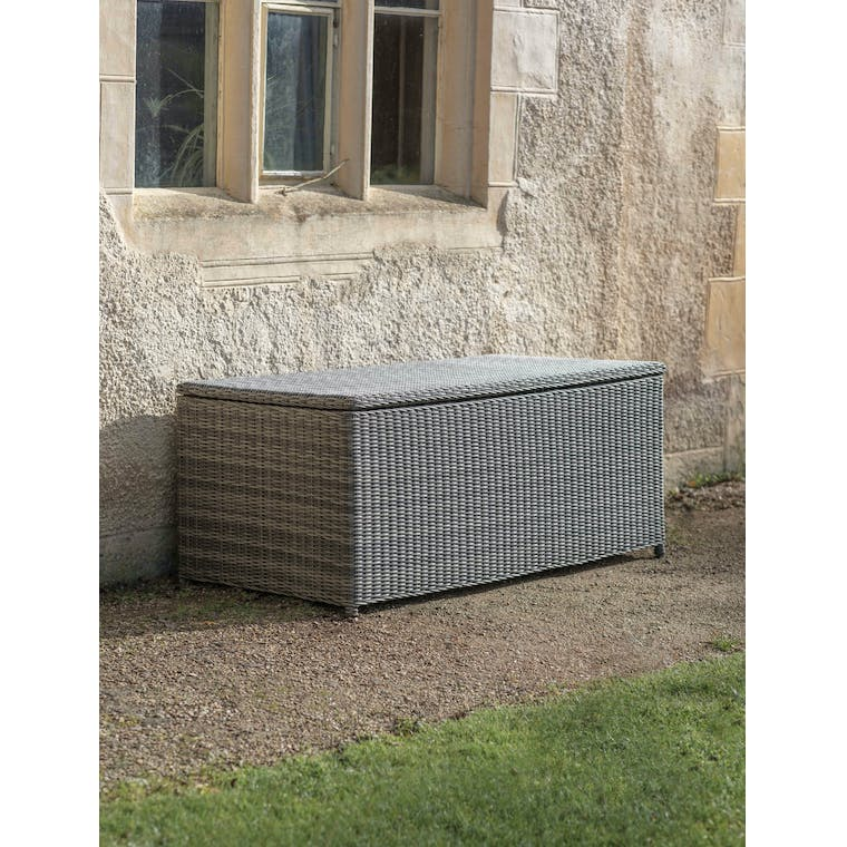 Garden Trading Selborne Storage Box, Large - All-weather Rattan