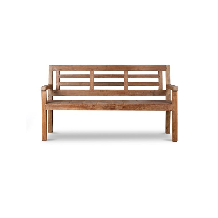 Reclaimed Teak Outdoor Chastleton Bench | Garden Trading