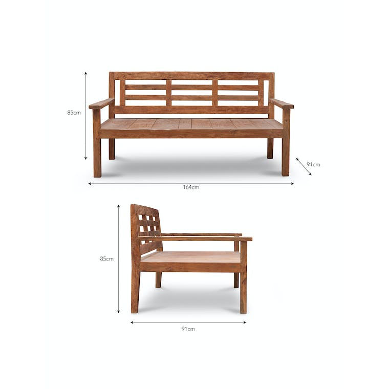 Reclaimed Teak Chastleton Day Bed | Garden Trading