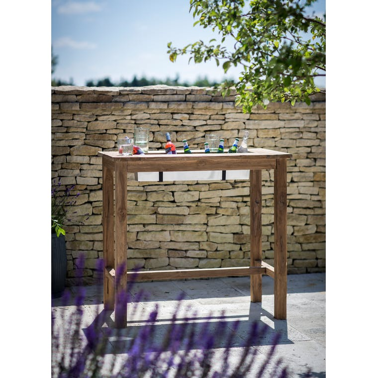 Teak Outdoor Planter Bar Table in Small or Large | Garden Trading