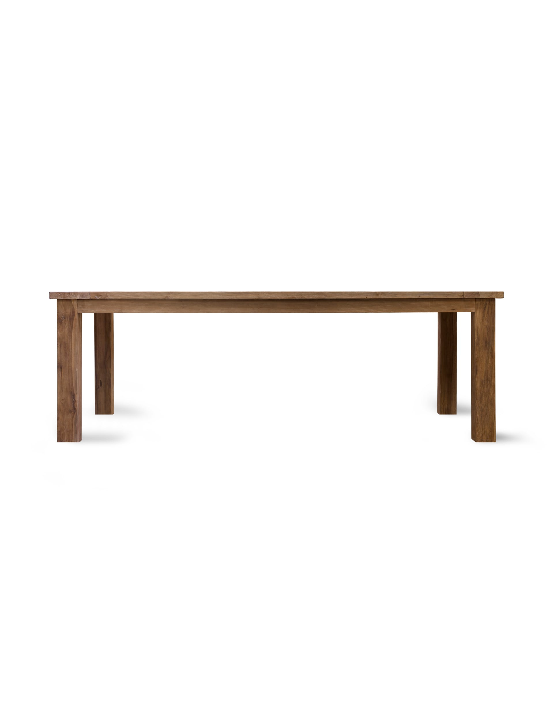 Teak St Mawes Outdoor Refectory Table, 10 Seater | Garden Trading