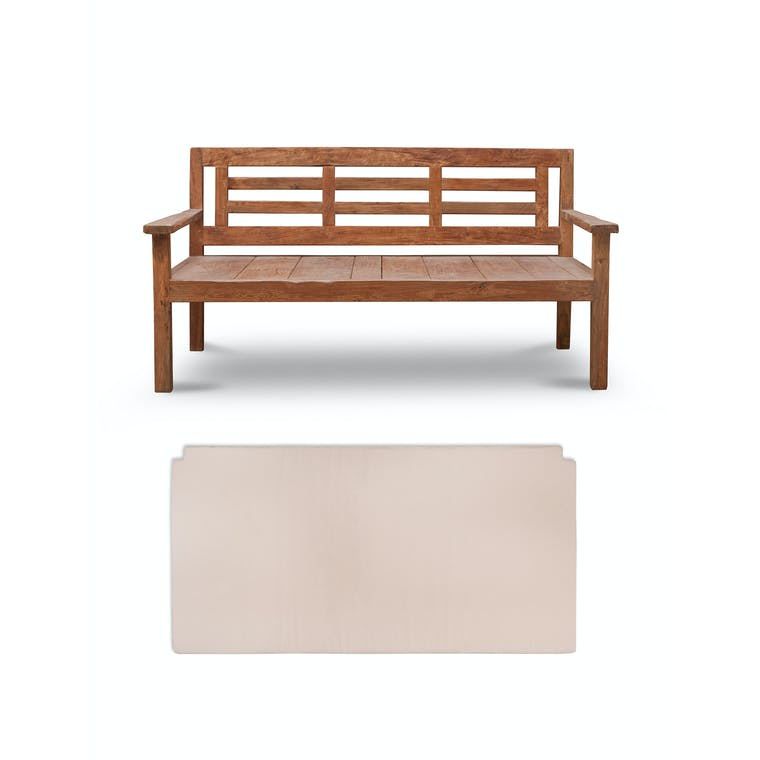 Teak Chastleton Day Bed with Cushion | Garden Trading