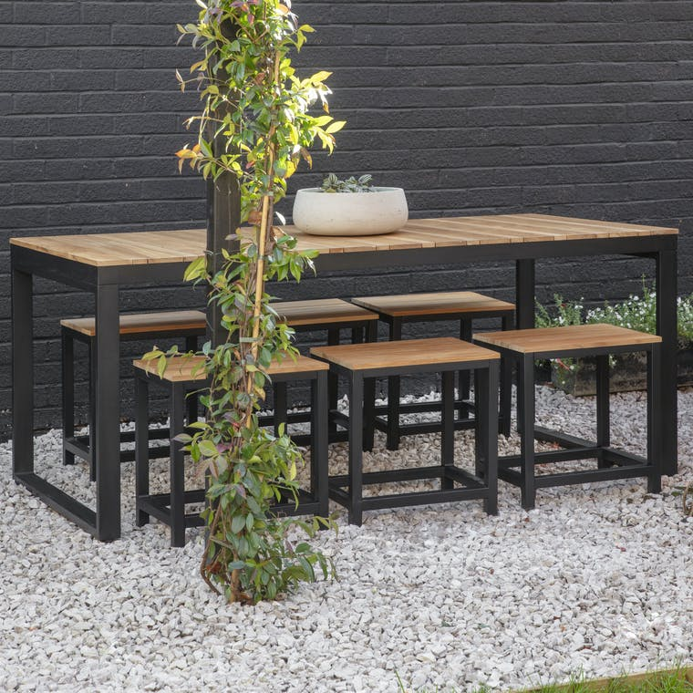 Teak Camley Outdoor Table Set in Small or Large | Garden Trading