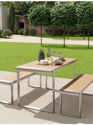 Trewithian Table and Bench Set