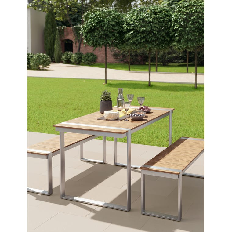 Trewithian Table and Bench Set by Garden Trading