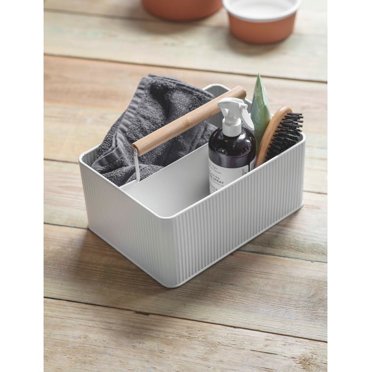 Steel Kinloch Grooming Bucket in White or Green | Garden Trading
