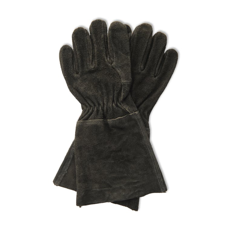Suede Gauntlet Gloves in Black or Brown | Garden Trading