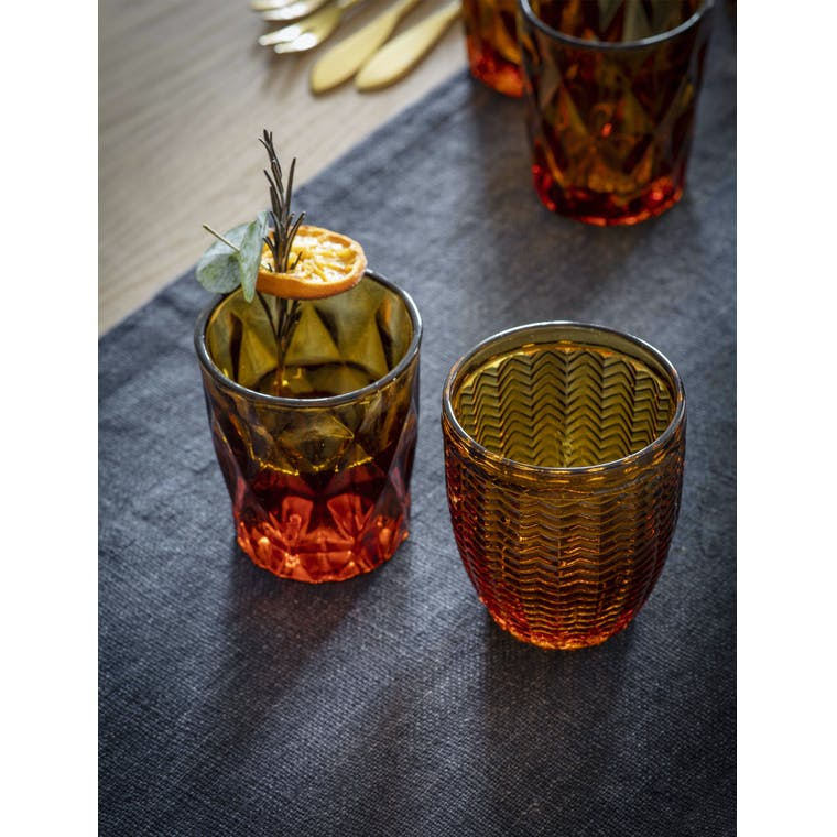 Garden Trading Set of 4 Herringbone Tumblers