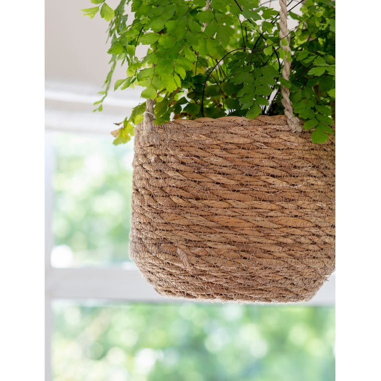 Jute Hanging Plant Pot in Tall, Short or Tapered | Garden Trading
