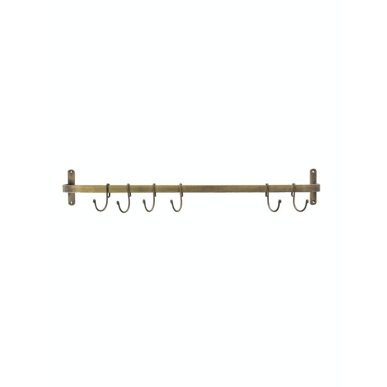 Steel Brompton Hook Rail in Antique Bronze | Garden Trading
