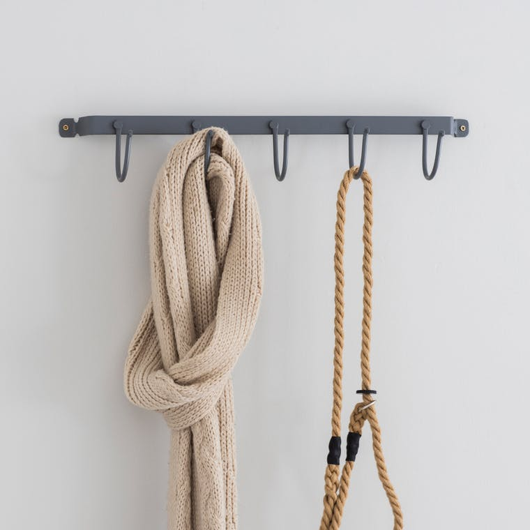 Steel Hook Rail in Grey in Small or Large  | Garden Trading