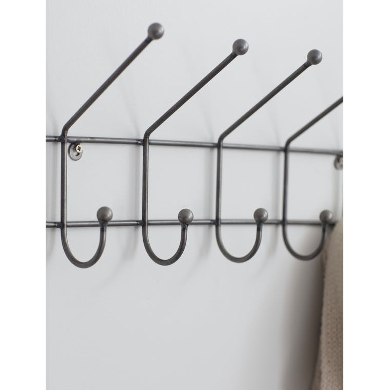 Metal Farringdon Hook Rail | Garden Trading