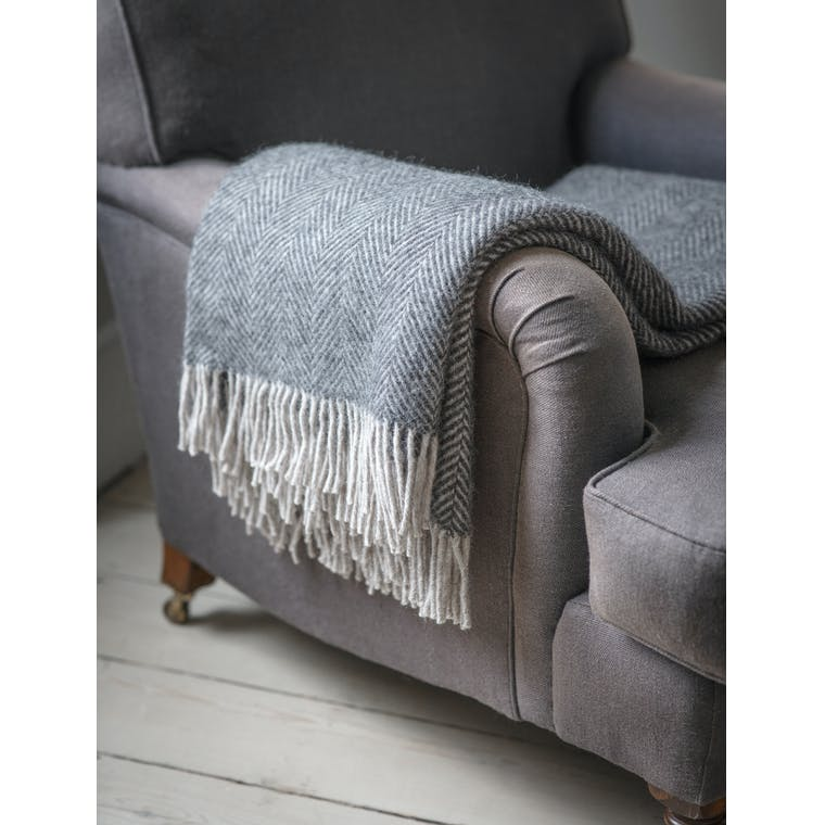 Garden Trading Tweedmill Throw in Grey