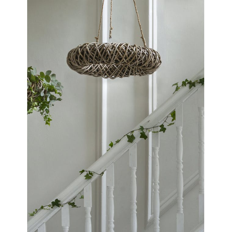 Rattan Hanging Wreath in 50cm or 70cm | Garden Trading