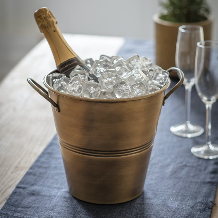 Antique Brass Brompton Ice Bucket | Garden Trading