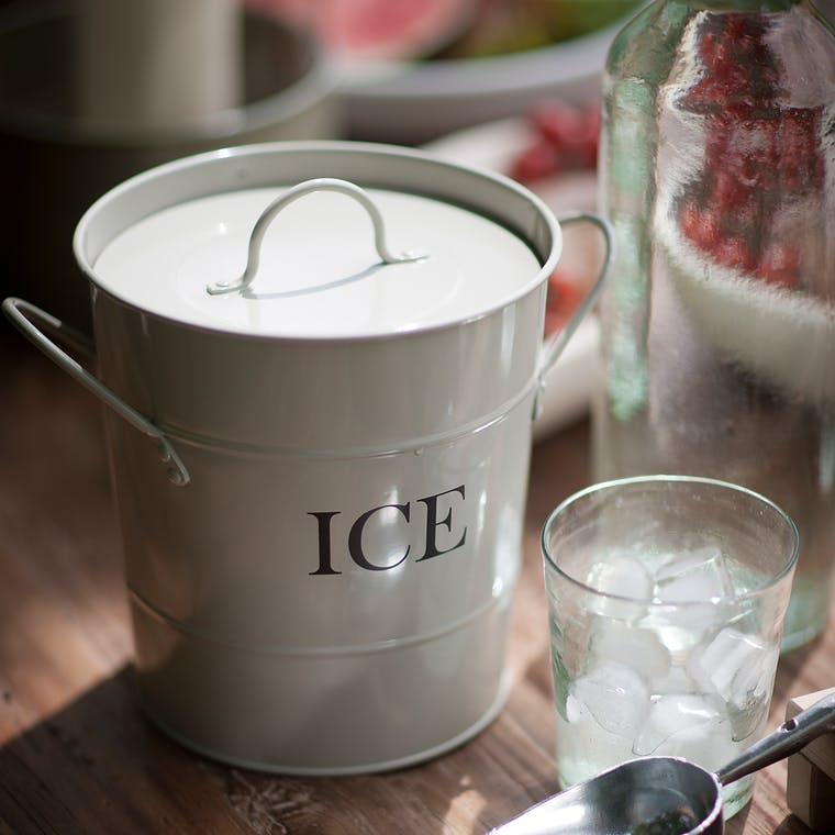Ice Bucket in White  | Garden Trading