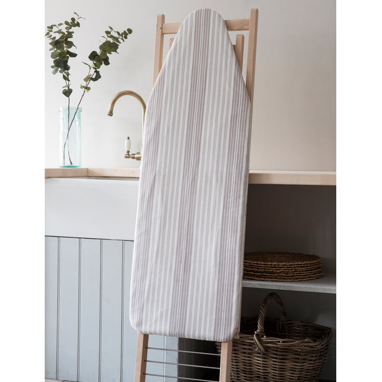 Cotton Striped Ironing Board Cover in Grey or Blue | Garden Trading