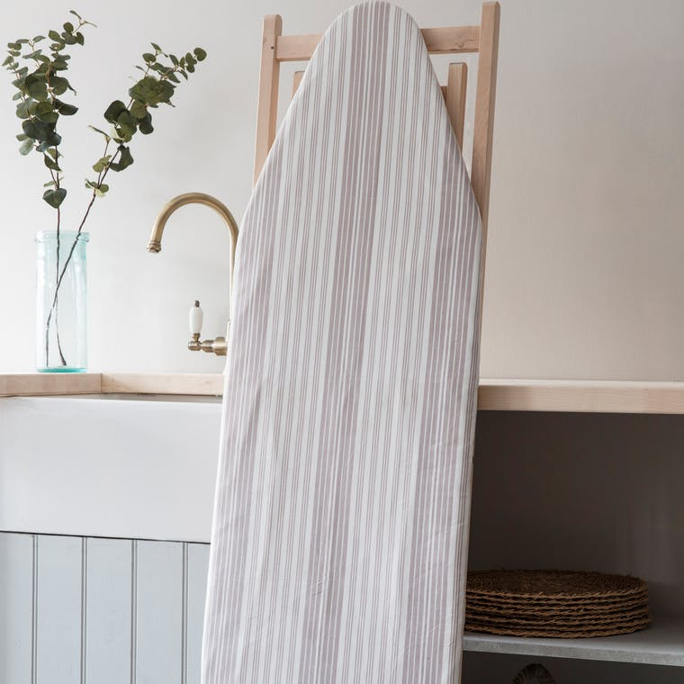 Cotton Ironing Board Cover in Grey Stripe or Geometric  | Garden Trading