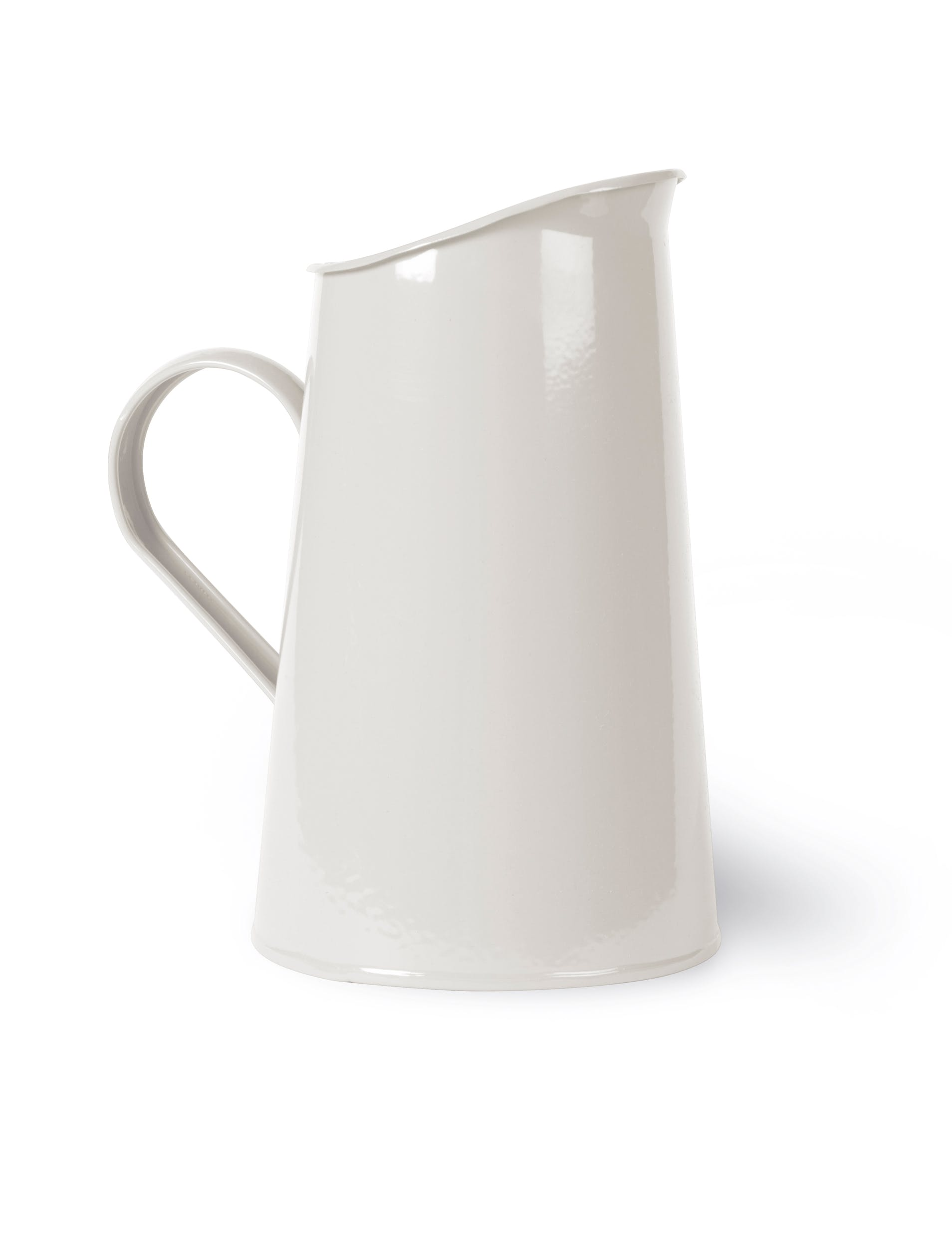 Steel Classic Jug in White  | Garden Trading