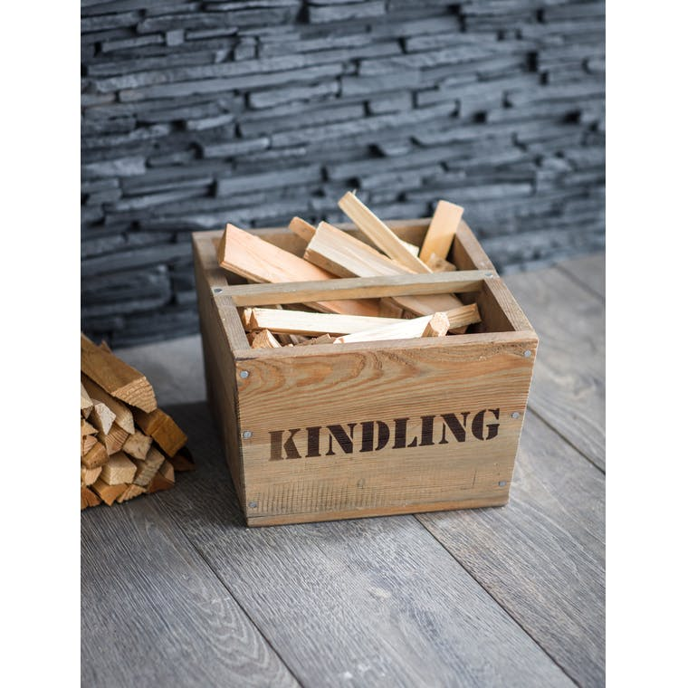 Wooden Kindling Box  | Garden Trading