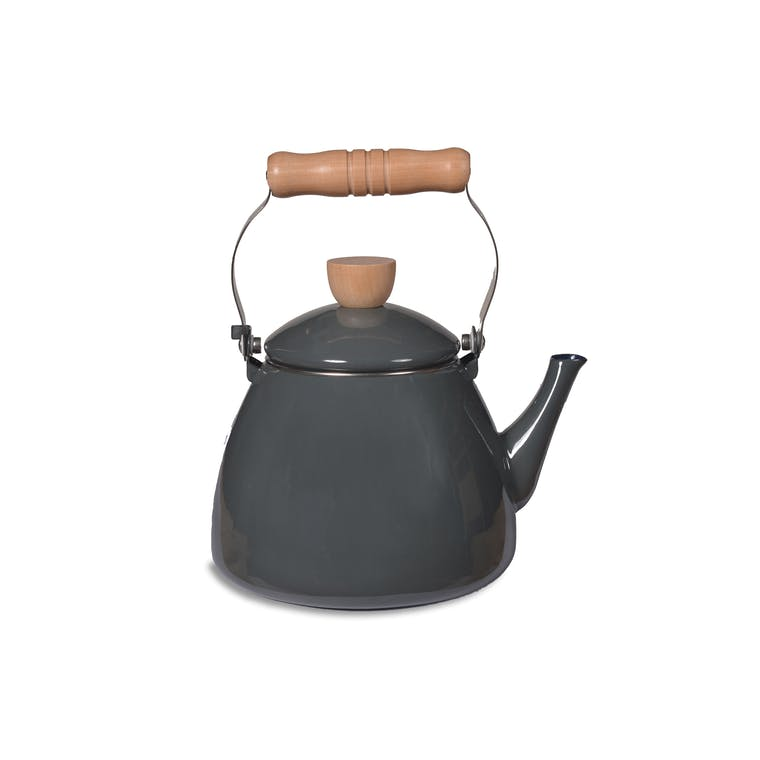 Enamel Stove Kettle in Grey | Garden Trading