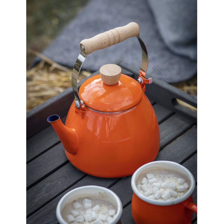Garden Trading Stove Kettle in Orange