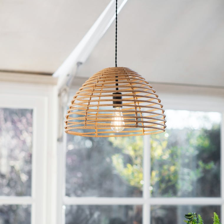 PE Bamboo Hampstead Pendant Light | Garden Trading