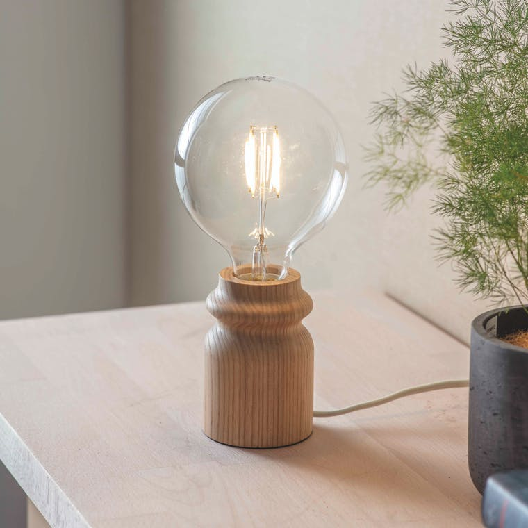 Wooden Bloomsbury Bulb Holder Table Lamp | Garden Trading