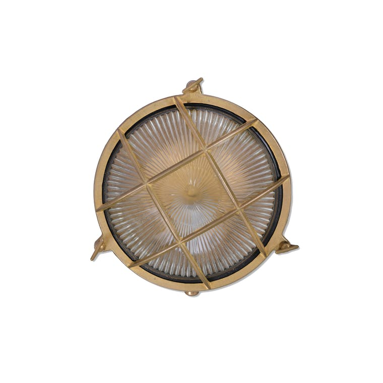 Brass Devonport Round Bulk Head Light | Garden Trading