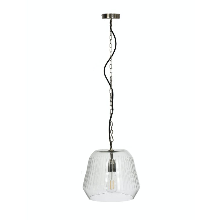 Glass Gosforth Pendant Light in Small or Large | Garden Trading