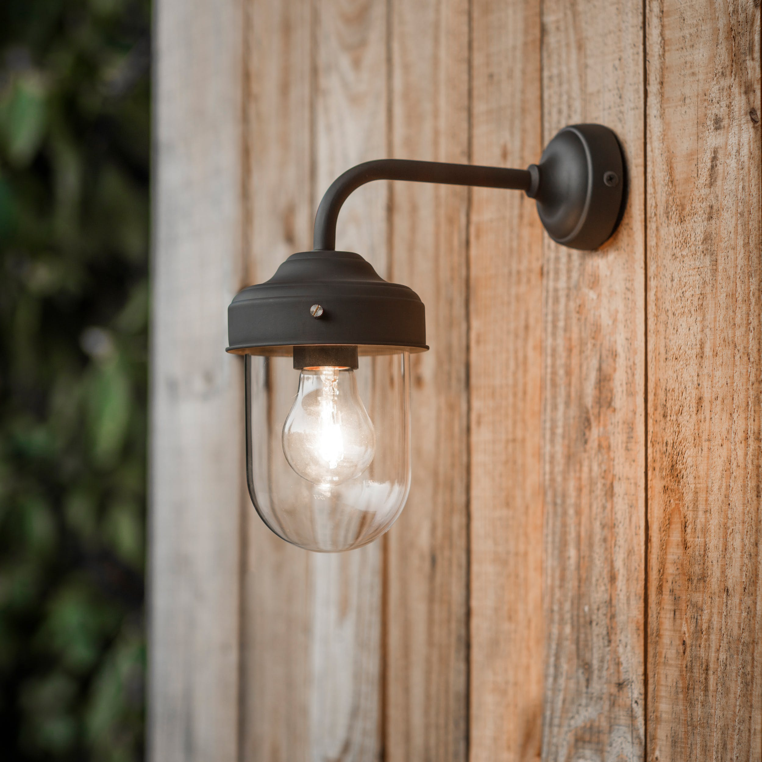 Barn Outdoor Wall Light In Grey Brown