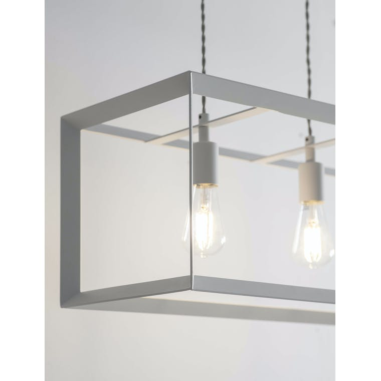 Steel Brunswick Indoor Pendant Light in White | Garden Trading