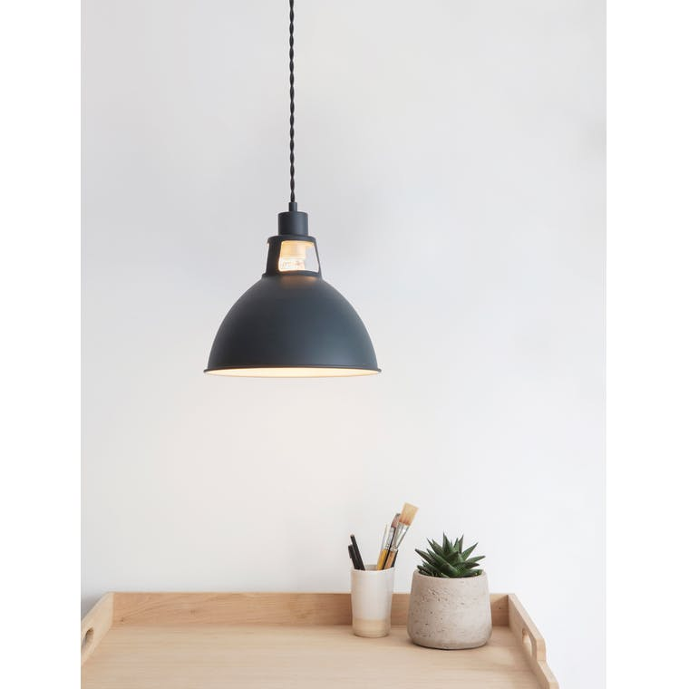 Digbeth Indoor Pendant Light in Black | Garden Trading