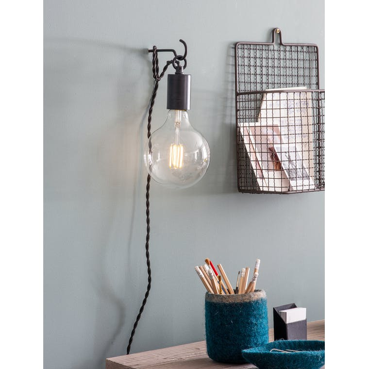 Soho Wall Light in Black - Steel | Garden Trading