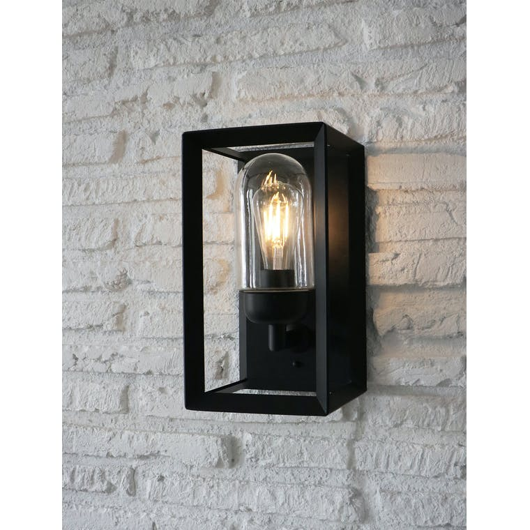 Napier Outdoor Wall Light in Black | Garden Trading