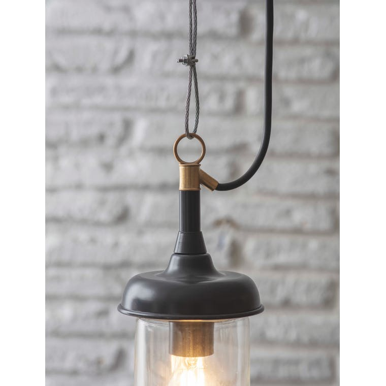Outdoor Harbour Pendant Light in White or Black | Garden Trading