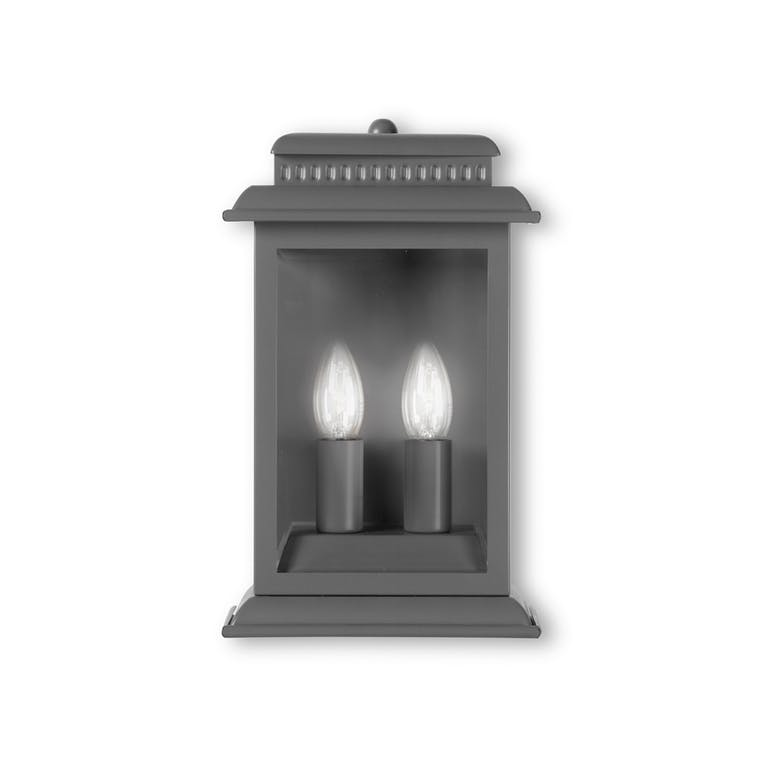 Belvedere Outdoor Wall Light in Grey or Bronze | Garden Trading