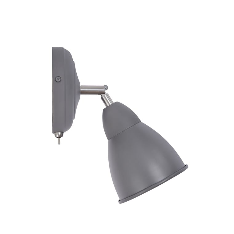 Steel Chiswick Wall Light in Grey  | Garden Trading