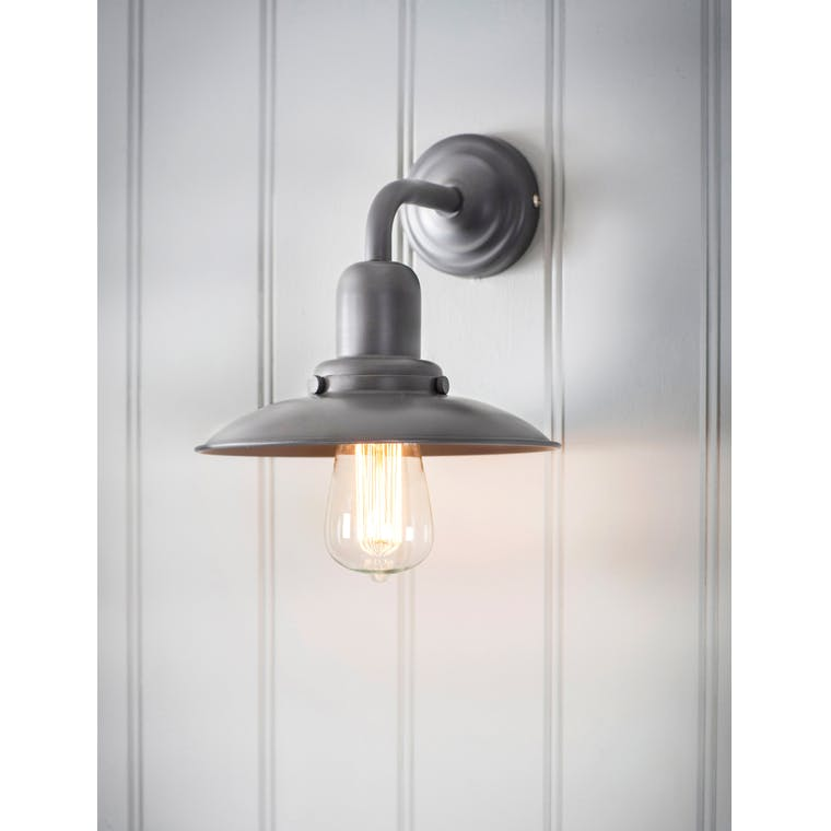 Hobury Indoor Wall Light in Grey | Garden Trading