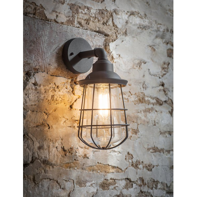 Finsbury Outdoor Wall Light in Grey | Garden Trading