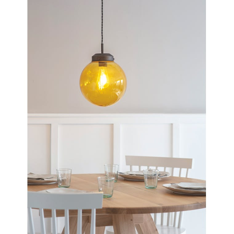 Glass Dulwich Pendant Light in Grey or Brown | Garden Trading
